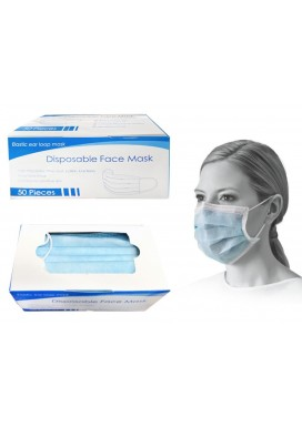 Ear Loop Masks - Disposable (50/box) Sealed Inner Bag