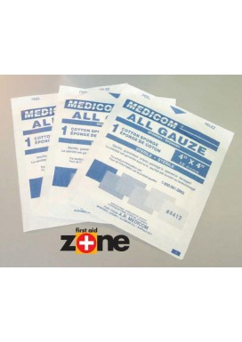 "Gauze Pads (sterile) - 12 ply, 4"" x 4""  { 5 }"