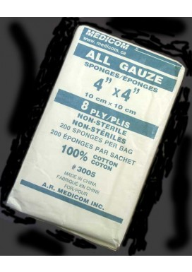 """Gauze Pads (Non-Sterile) - 8 ply, 4"""" x 4"""""""